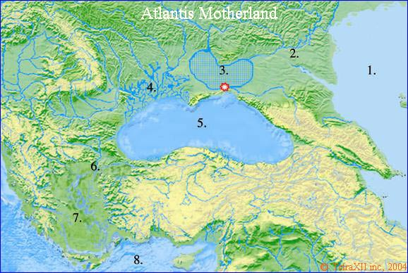 Atlantis Azov Black Sea Flood Map